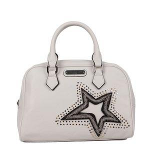 NICOLE LEE BRONA GLITZ STAR PATCH BOSTON BAG